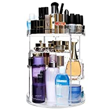 CECOLIC 360° Rotating Makeup Organizer 12 Layers Acrylic Cosmetic Storage, Fits Jewelry,Makeup Brushes, Lipsticks and More