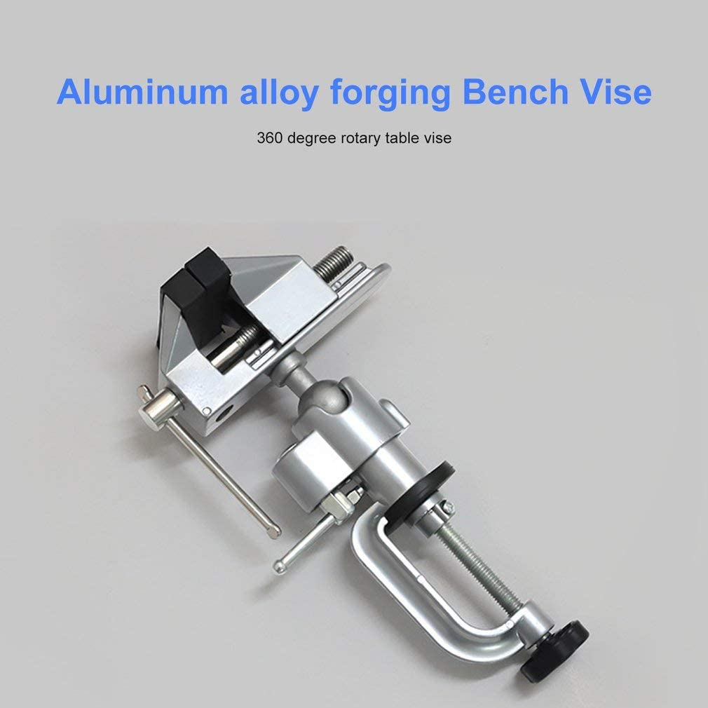 360 Degree Rotating Mini Vise Tool Jewelers Hobby Clamp Bench Vice Lathe