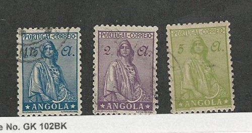 Angola, Postage Stamp, #258A, 259-260 Used, 1932-46 Portugal Colony