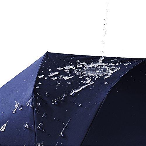 Travel Umbrella,Auto Open & Close, Travel 10 Ribs Folding Golf SizeUmbrella (blue) by Jemess (Image #2)