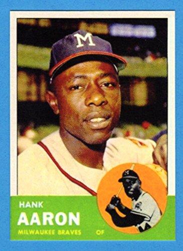 - Hank Aaron 1963 Topps Baseball Reprint Card (Braves)