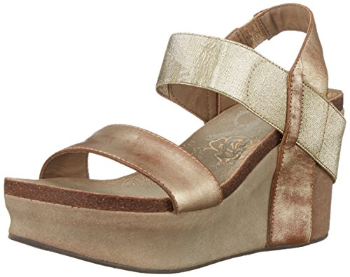 OTBT Women's Bushnell Wedge Sandal,Gold,7 M US ()