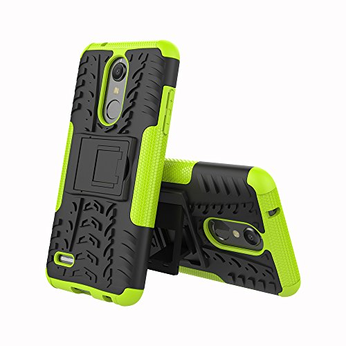 LG K30 Case,LG Phoenix Plus,LG Premier Pro LTE,LG K10 Alpha,LG K10 2018 Case,Heavy Duty Protective Cover Dual Layer Hybrid Shockproof Protective Case with kickstand Hard Phone Case Cover Green