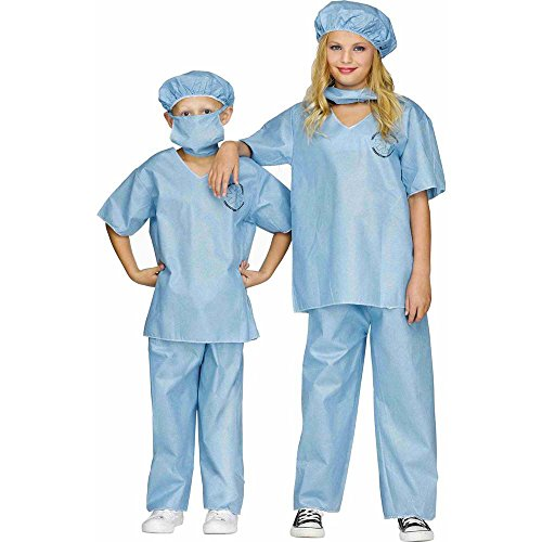 Doctor Scrubs Deluxe Kids Costume