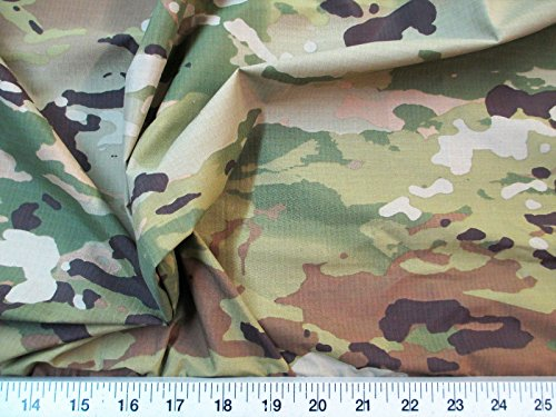 Paylessfabric 10 Yard Lot Fabric Ripstop Rip Stop Nylon Water Resistant Woodland Camouflage -