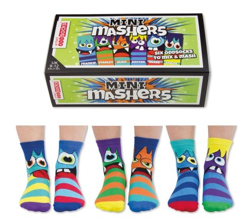 United Oddsocks - 6 Oddsocks Child - US 9.5 - 13 Mini Mashers