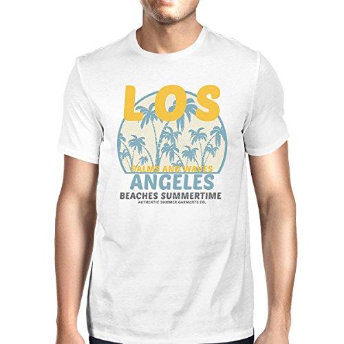 corta Beaches Los talla White Camiseta 365 de para Angeles hombre de Summertime Printing manga wHOBz