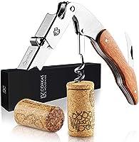 CORKAS Tire-Bouchon Professionnel, Couteau de Sommelier, Couteau de Serveur avec Décapsuleur et Coupe-Capsule, Ouvre...