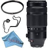 Fujifilm XF 100-400mm f/4.5-5.6 R LM OIS WR Lens 16501109 + 77mm UV Filter + Fibercloth + Lens Capkeeper Bundle