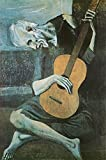 Pablo Picasso (Old Guitarist) Art Print Poster - 24x36