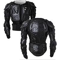 SunTime Chaqueta de Protección para Motocross Motos Ropa Protectora de Cuerpo Armadura Completo Profesional de Motocicleta Deportiva para Hombres Columna Vertebral Hombro Pecho (Negro, L)