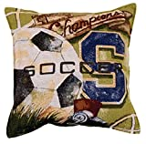Soccer Vintage Tapestry Toss Pillow USA Made