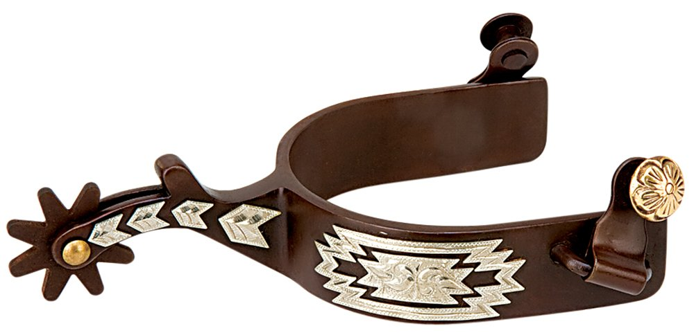 Weaver Men's 25-7655 Spur/Engraved German Silver Trim