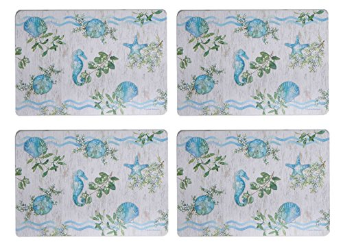 Kay Dee Placemat (Kay Dee Designs Laminate Wipe Clean Placemats, Ocean Tide, Set of)