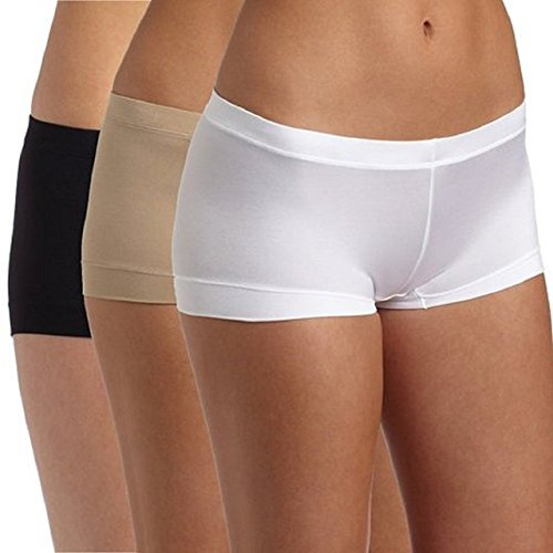 Maidenform Womens 3 Pack Dream Boyshorts Neutral Black Medium 6