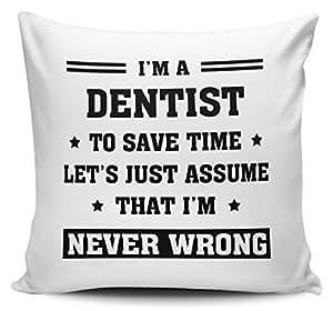I 'm un dentista para ahorrar tiempo permite Just asumir que Im nunca mal cojín con interior/dípticas