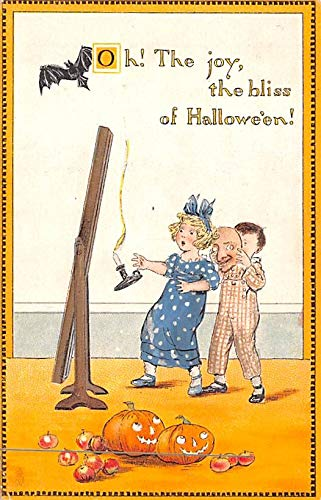 Halloween Post Card Old Vintage Antique Raphael Tuck Publishing postal used unknown