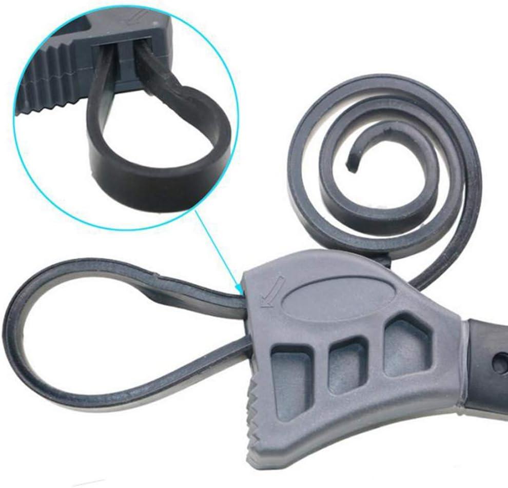 Atrumly D/écapsuleur r/églable 50 cm en caoutchouc multifonction Cl/é /à courroie auto filtre /à huile pour r/éparation de voiture