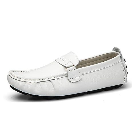 YaXuan Zapatos de Hombre, Zapatos de Cuero de Primavera, Mocasines y Slip-on