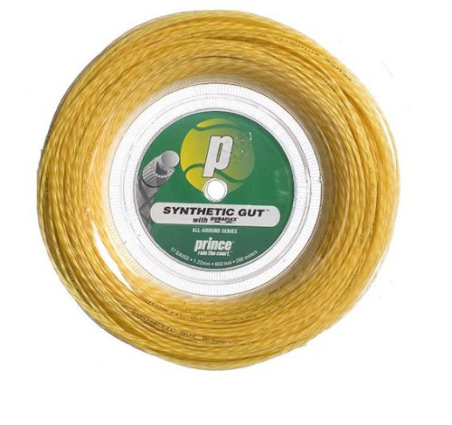 Prince Synthetic Gut with Duraflex 17g Gold Tennis String Reel