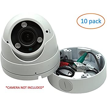 White 4 75 Quot Camera Base Junction Outlet Box For Adjustable