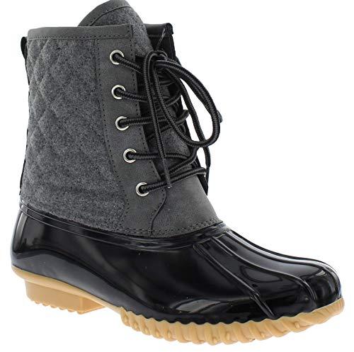 sporto Womens Delanie Wool Blend Duck Boot, Grey, 9 M US