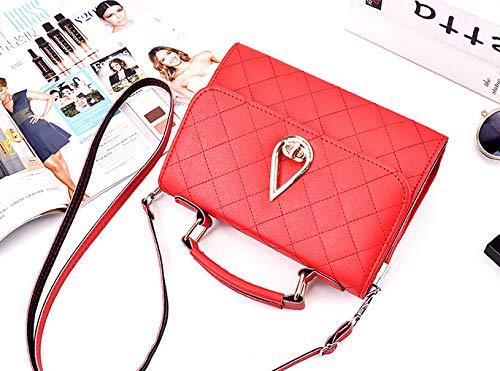 Messenger a Fashion Borse Borse Personalizzati Mano Borse Metallo Borse Spalla Borse Donna Secchiello Lmpermeabile Xiuy Borse Kawaii Cinghia Tracolla Da Red Classica Classici Unicolor Pu Lavoro a qw6Tf4C