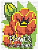 Flower Color By Number: 30 Flowers and Butterfly
