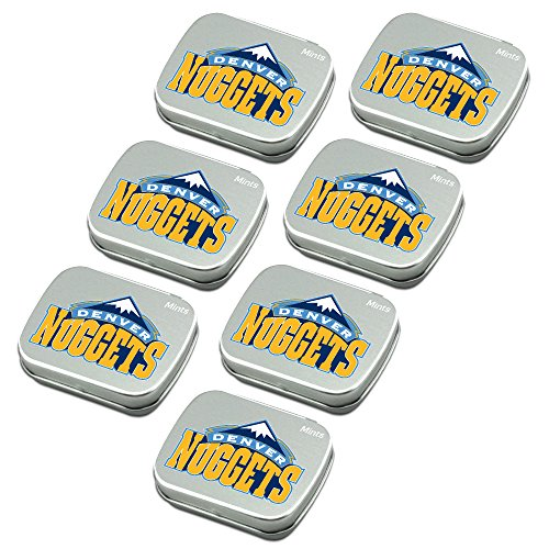 Peppermint Nuggets (Denver Nuggets Peppermint Candies 7-Pack. NBA sugar-free mints in decorative tins. About 85 mints per tin. Perfect for gifts, Valentine's Day, stocking stuffers. Only from Worthy.)