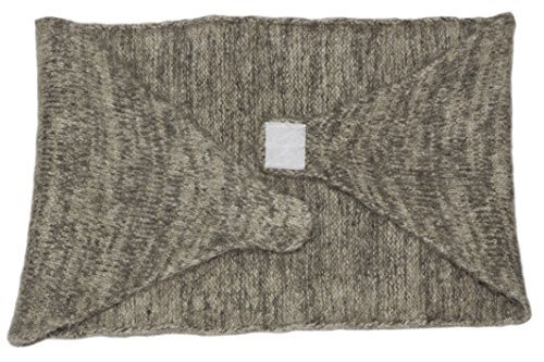Thick Natural Roving Lambswool Warm Wool Waist Warmer by Granny's Knitwear (Dark Grey, Large)