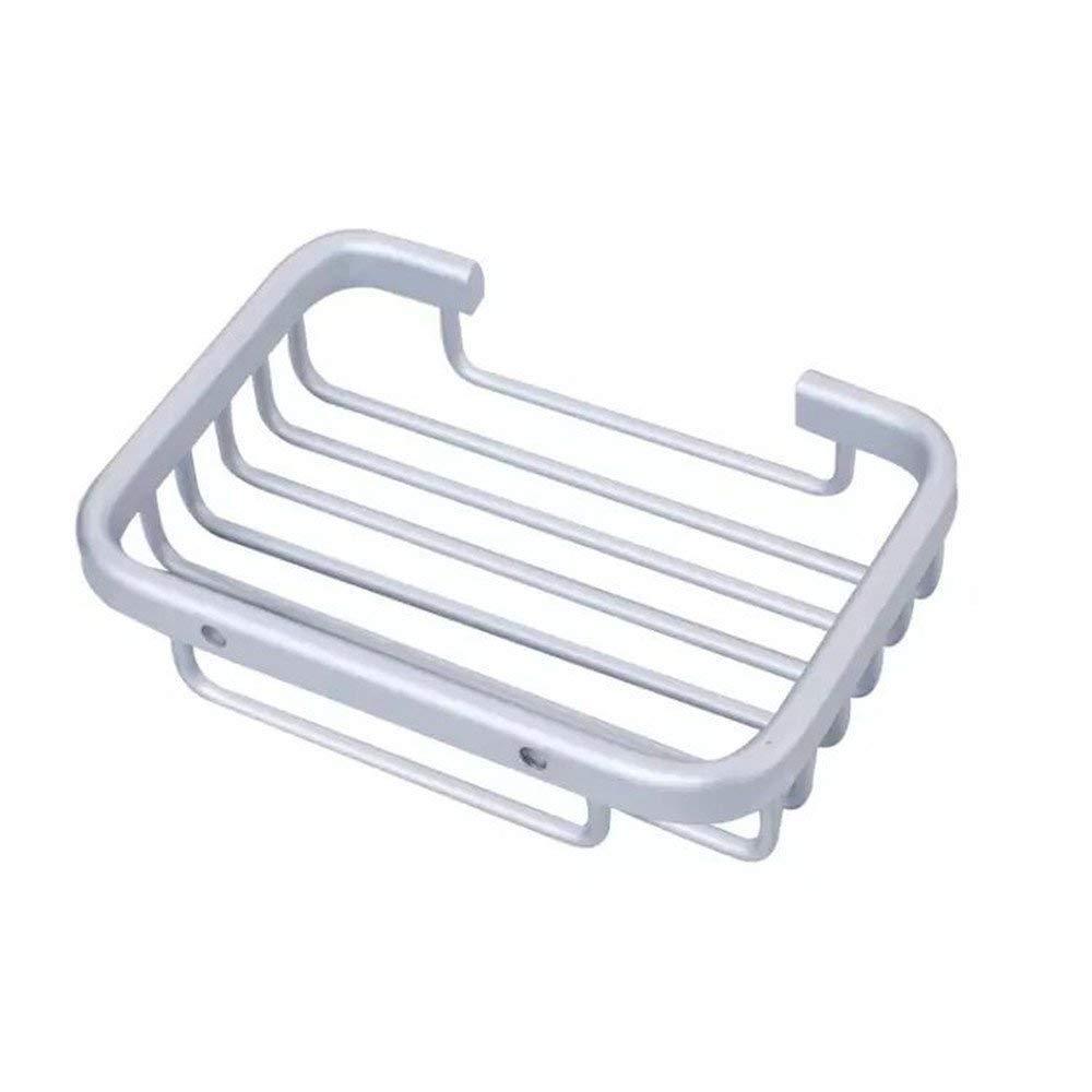 Oudan Seifenrafferraum Aluminium Badezimmer-Bad-Accessoires Seifenkiste Seifennetz Seifenkastenquadrat Seifennetz (Farbe : -, Größe : -)
