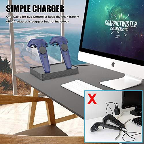 Esimen Magnetic Portable Charging Station for HTC Vive/HTC Vive Pro  Wireless Controller