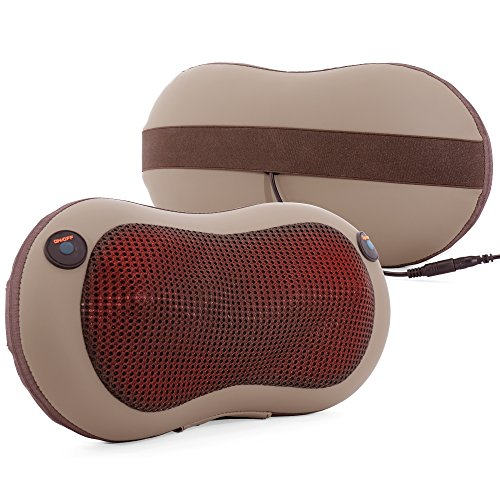 3-Speed Shiatsu Massage Pillow with Heat - P & J Health P...