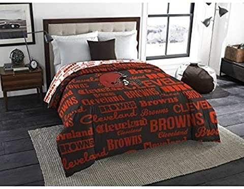 1 Piece NFL Cleveland Browns Comforter Full, Sports Patterned Bedding, Featuring Team Logo, Fan Merchandise, Team Spirit, Football Themed, National Football League, Brown, Orange, For - Cleveland Browns Bedding