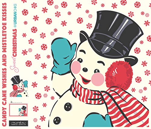 Sweet Christmas Snowman Applique Digital Panel by Urban Chiks (Snowman Christmas Cotton Fabric)