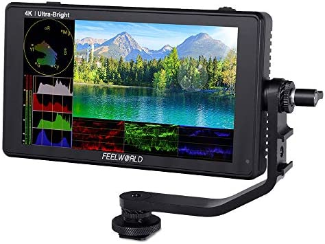 Feelworld LUT6S 6 Inch 2600nits HDR3D LUT Touchscreen DSLR Camera Veld Monitor met Golfvorm VectorScope Histogram 3GSDI 4 K HDMI Input Output 1920X1080 IPS Panel