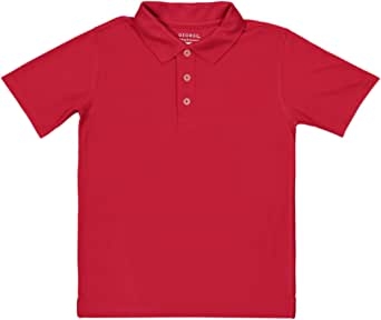 Red Cotton Shirt Neck Polo For Boys