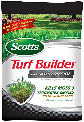 Scotts 40210 Turf Builder Moss Control Fertilizer, 10,000-Sq Ft Lawn Food, - Lawn Moss Out