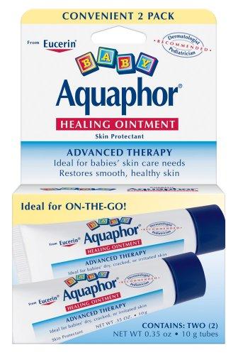 Aquaphor Bébé To-Go Pack, onguent, deux tubes .35 once (pack de 3)