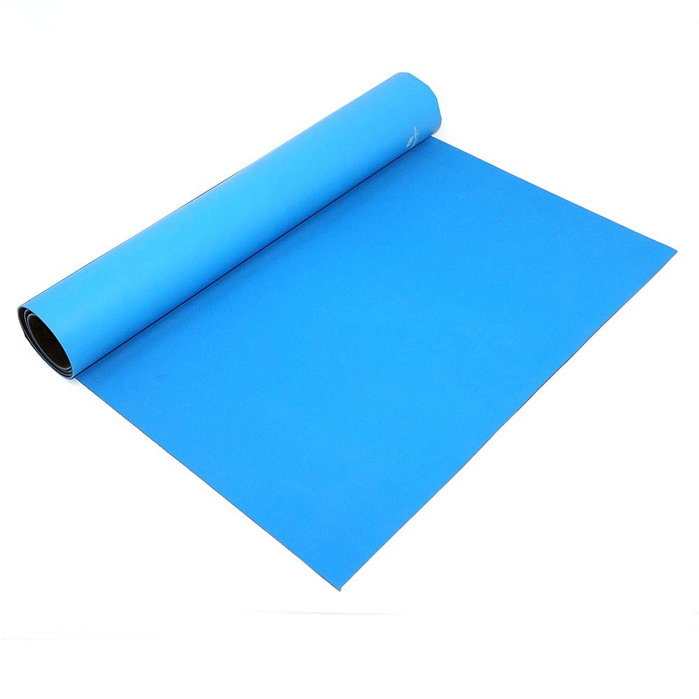 Anti Static Esd Rubber Roll Workstation Mats Dissipative Rubber 50 Feet Long Light Blue 24 X50 X0 080 Amazon Com Industrial Scientific
