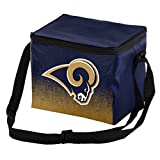 NFL Football Team Logo - Gradient Print- Lunch Bag Cooler - Holds up to a 6 Pack  (Los Angeles Rams)