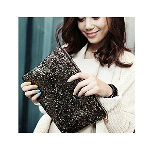 L'vow Fashion Sparkling Sequins Handbag Clutch Purse Evening Party Bag