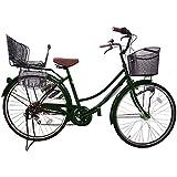 Lupinusルピナス 自転車 26インチ LP-266UA-KNR-B 軽快車 シマノ外装6段ギア オートライト 後子乗せブラック