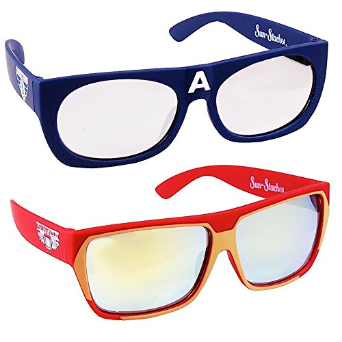 Sun-Staches - Captain America & Iron Man - Sunglasses Kid Knockout
