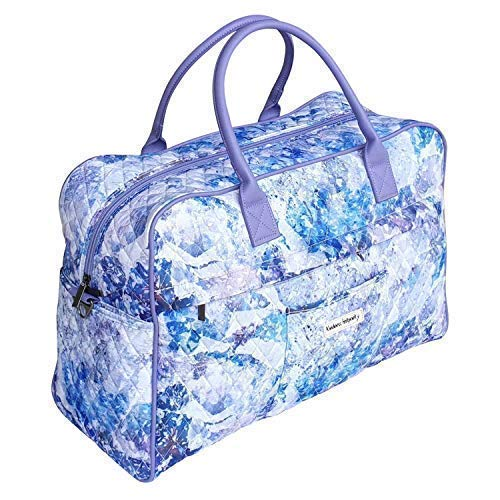 - Cute Overnight Bag for Women and Girls Weekender Bag Carry On Travel Duffel Bag Abstract Purple
