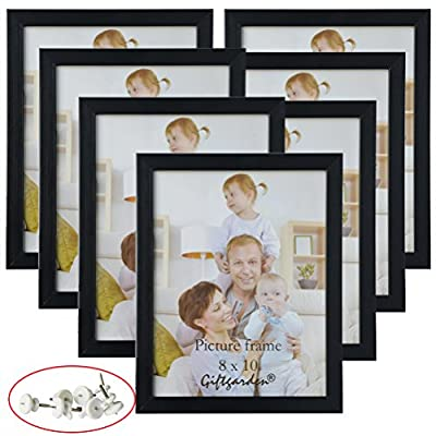 Giftgarden Picture Photo Document Frames Set Compatible Wall Tabletop, Black