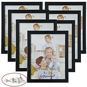 giftgarden 8x10 picture frame multi photo frames set wall or tabletop display black. Black Bedroom Furniture Sets. Home Design Ideas