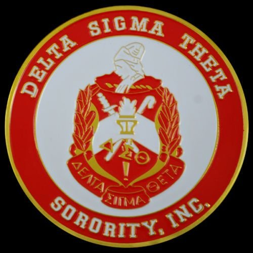 (Delta Sigma Theta Sorority Round Car Tag Badge)