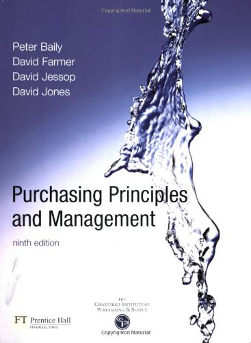 Purchasing, Principles and Management (9th Edition)