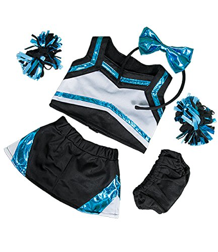"Metallic Teal & Black Cheerleader Teddy Bear Clothes Fits Most 14""-18"" Build-A-Bear and Make Your Own Stuffed Animals	 from Stuffems Toy Shop"